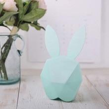 Lovely Cute Design Animal Rabbit Shape Digital Alarm Clock LED Luminous Sound Night Light Wall Clocks for Bedroom