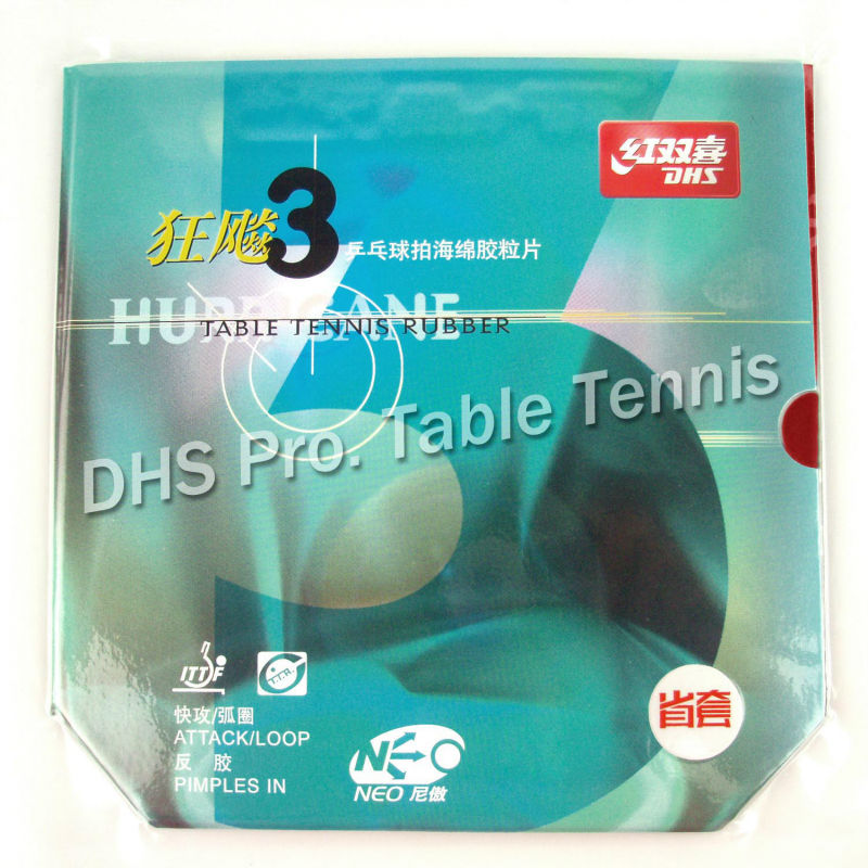DHS NEO Hurricane 3 NEO Hurricane3 Provincial team version Pips-In Table Tennis Rubber With Sponge for pingpong racket [playa pingpong] dhs k161 chinese naitional version vis structure balde