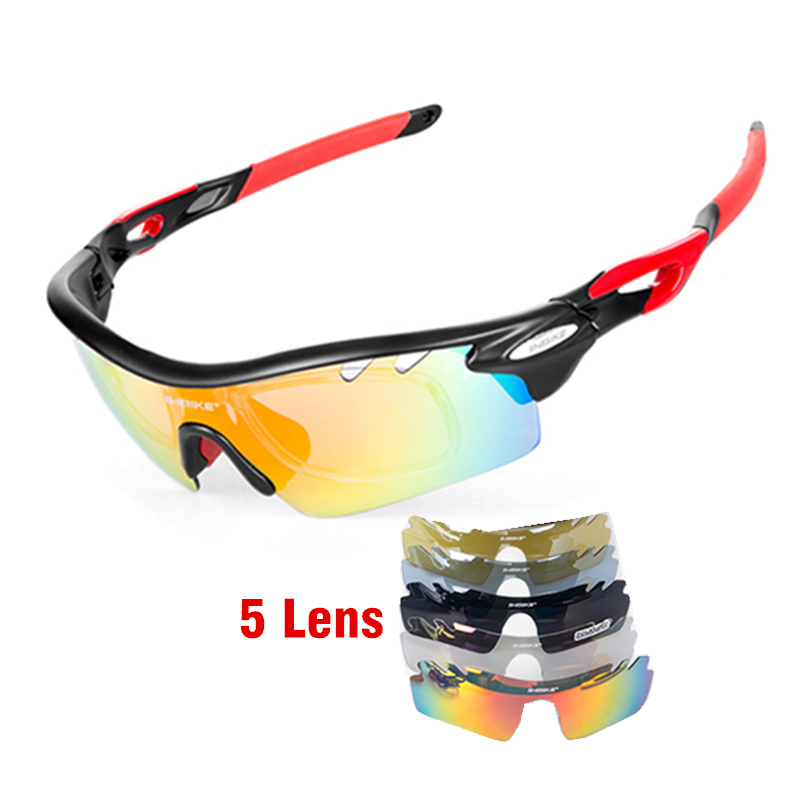 <font><b>5</b></font> <font><b>Lens</b></font> Polarized Cycling Sun <font><b>Glasses</b></font> Outdoor Sports Men Women Bicycle <font><b>Glasses</b></font> <font><b>Bike</b></font> Sunglasses Goggles MTB Riding Fishing Eyewear image