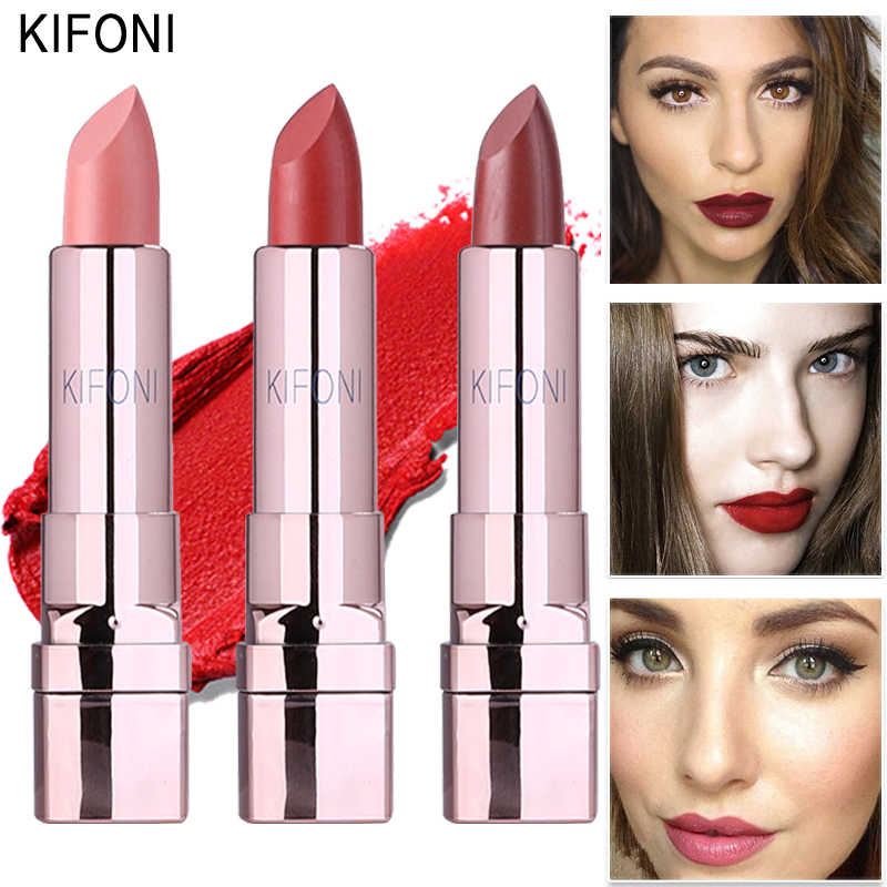 New Arrival KIFONI brand makeup beauty matte lipstick long lasting tint lips cosmetics lip stick maquiagem make up red batom