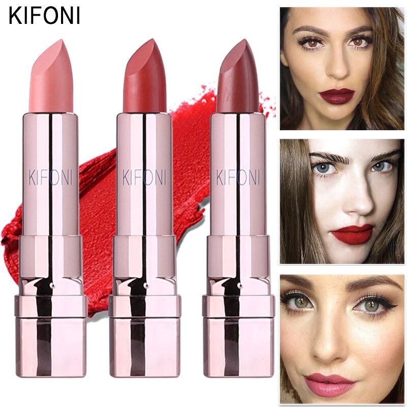 New Arrival KIFONI brand makeup beauty matte lipstick long lasting tint lips cosmetics lip stick maquiagem make up red batom