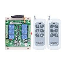 DC 12V 24V 36V 6 CH RF ワイヤレスリモートコントロールスイッチリモート制御システム 6CH 10A リレー受信機 + 6 ボタン送信機