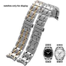 Correas de reloj de acero inoxidable para hombre y mujer, pulsera femenina de 18mm22mm23mm24mm, repuesto T035627 T035617 T035207 T035407A