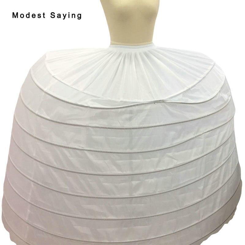 Винтажный подъюбник с 9 обручами, Нижняя юбка для дворцового бала, свадебные платья 2018, свадебные аксессуары, кринолин, jupon