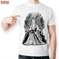 EATGE Popular TV Shows Cool Tshirt Mother Of Dragon Iron Fashion Throne Printed T Shirt