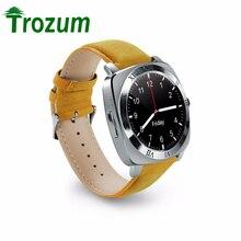 Trozum Новый X3 Bluetooth Смарт часы Шагомер Фитнес часы Камера sim-карты Mp3 плеер Relogio masculino для Android watchphone