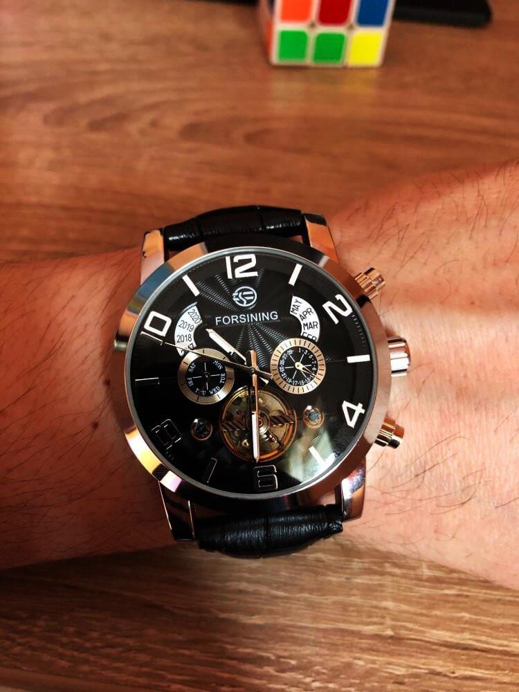HTB1QcddXQ5E3KVjSZFCq6zuzXXaF Forsining Tourbillion Fashion Wave Black Golden Clock Multi Function Display Mens Automatic Mechanical Watches Top Brand Luxury
