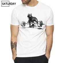 Men Gymmer Deadlift Powerlifting Workout Fitness Tough Guy T-shirt Summer Short O-Neck White Hipster T-shirt Unisex Clothes