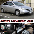 6 X Error Free Car LED Bright Vehicle Interior Map Dome Door Lights Kit Package for nissan primera p12 accessories 2001-2008