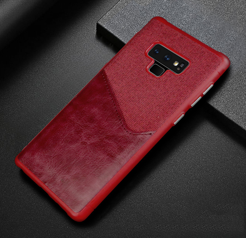 Luxury Business Cloth+leather Wallet Case for samsung note 9 8 with Card Pocket Cover for samsung galaxy S8 S9 Plus case Coque   (10)