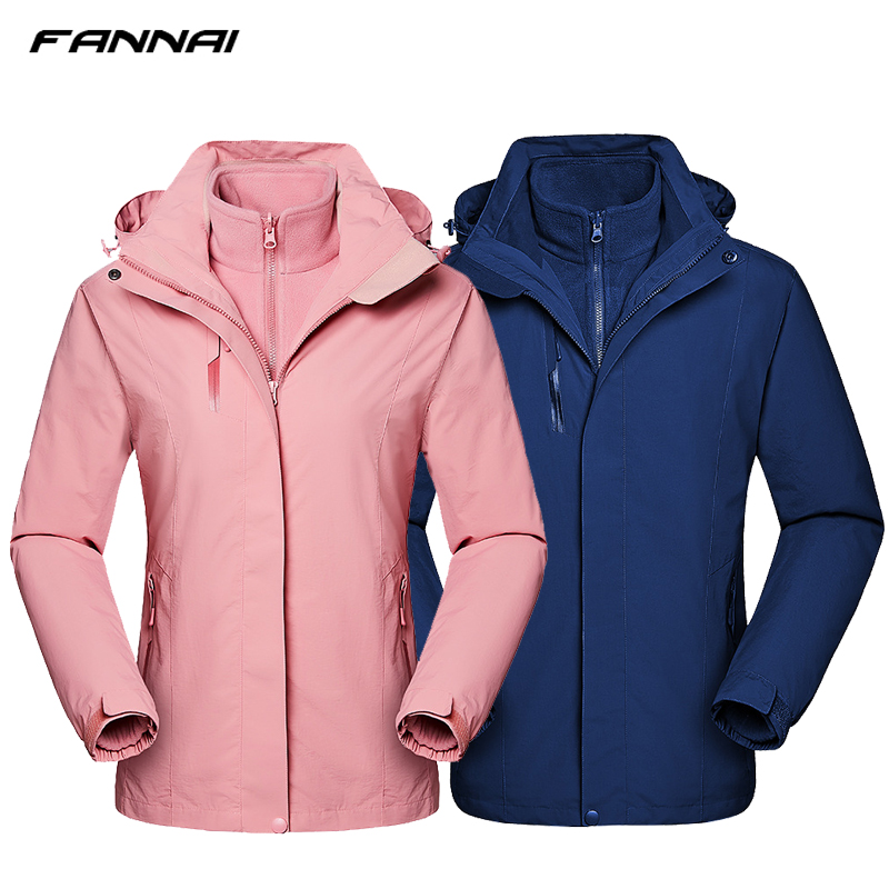 2in1 Winter Jacket Women/Men Fleece Heated jackets Outdoor Waterproof Windbreaker Camping Hiking Fishing Sport Softshell Coat цена 2017