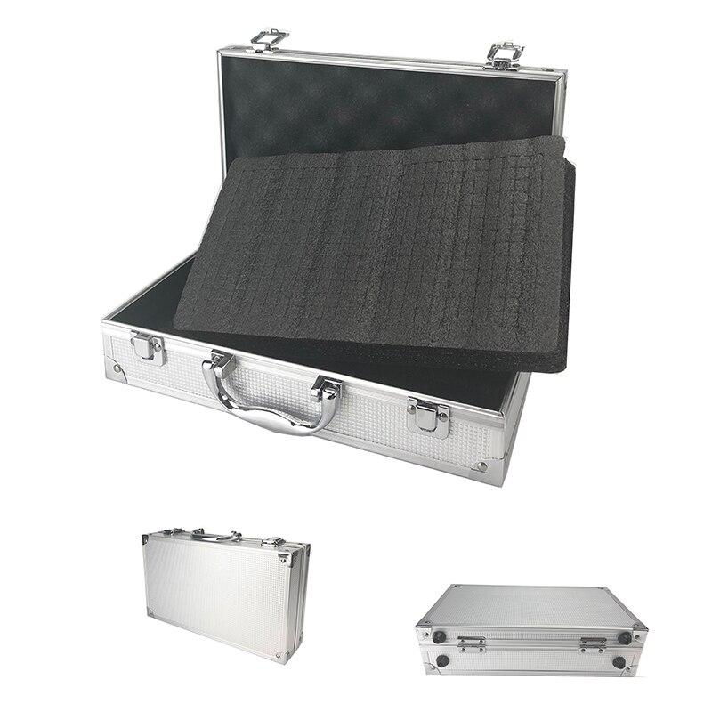 Toolbox Aluminum Tool Box Portable Instrument Box Storage Suitcase Travel Luggage Organizer Case Tools W Lining Two Size
