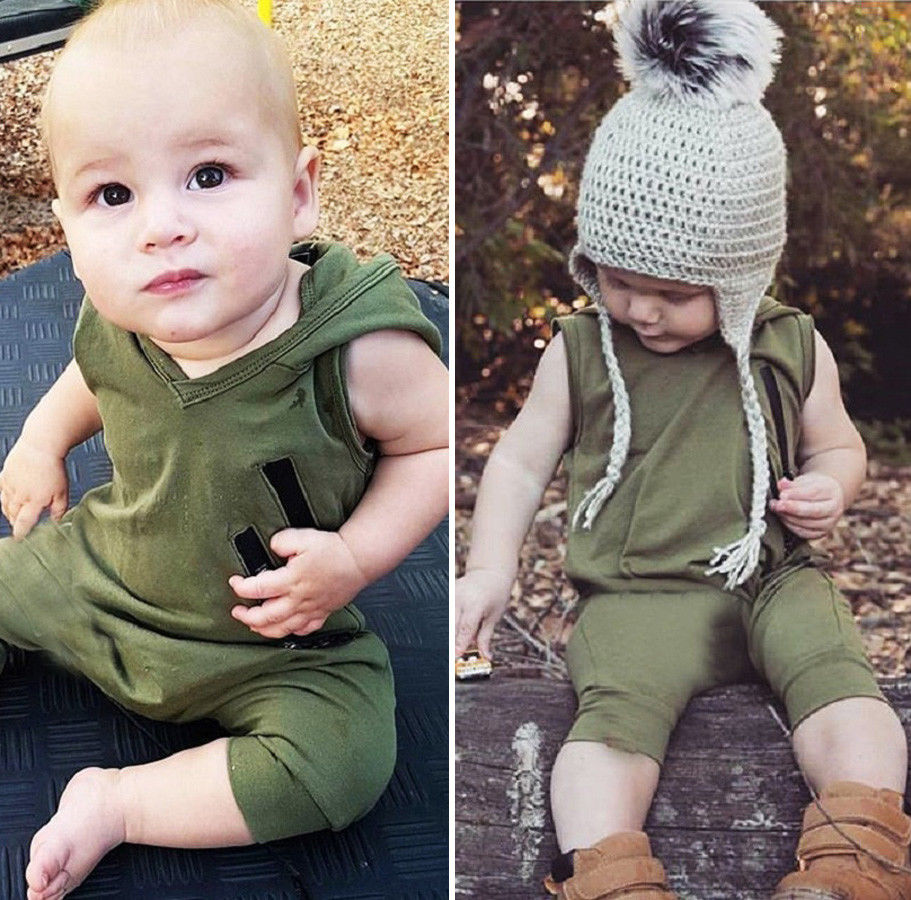 HTB1QceAufiSBuNkSnhJq6zDcpXaw 2018 Brand New Newborn Toddler Baby Girls Boys Summer Casual Active Romper Sleeveless Hooded Solid Zipper Jumpsuits Romper 0-24M