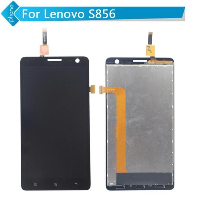 5.5 pulgadas pantalla lcd asamblea digitalizador de pantalla táctil negro para lenovo s856
