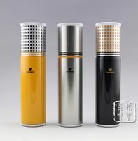 COHIBA Classic Gadgets Aluminium Alloy Travel Cigar Tube Portable Jar Outdoor Cigar Humidor W Humidifier Hygrometer Flocking Bag