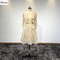 Серунт индивидуальные Шампанское Длинные рукава из двух частей короткие высокое качество бальные платья халат вечернее платье