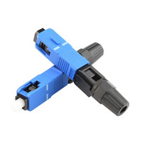 100pcs/lot Special wholesale embedded type SC cold drop cable connector SC fiber optic connector quick connector Splice