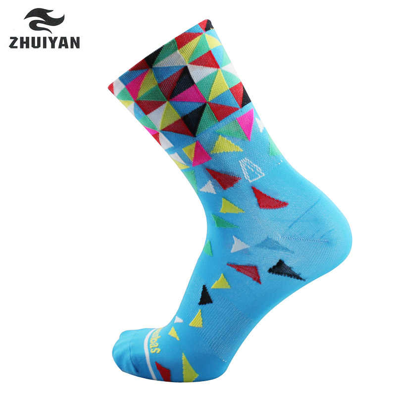 New High Quality Professional Sport Socks Road Cycling Socks Breathable Outdoor