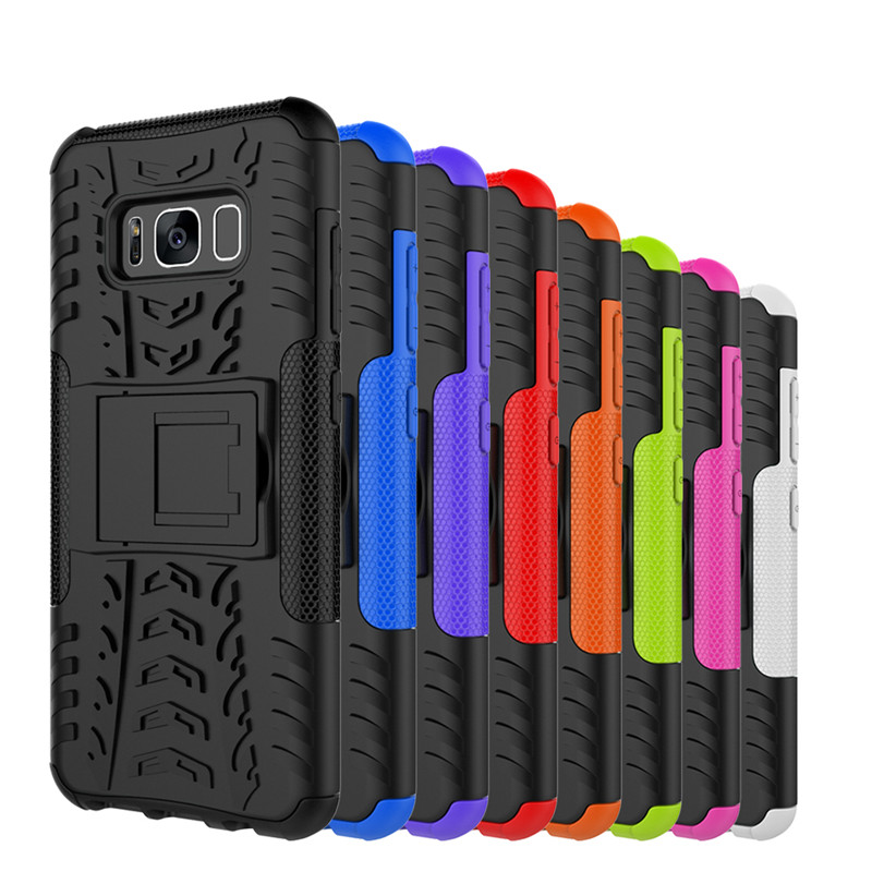 Tough Heavy Duty Armor Case Back Cover for Samsung Galaxy S8 S8Plus J1 Mini Ace J2 J3 J5 J7 Prime 2016 A3 A5 A7 2017 Stand Coque