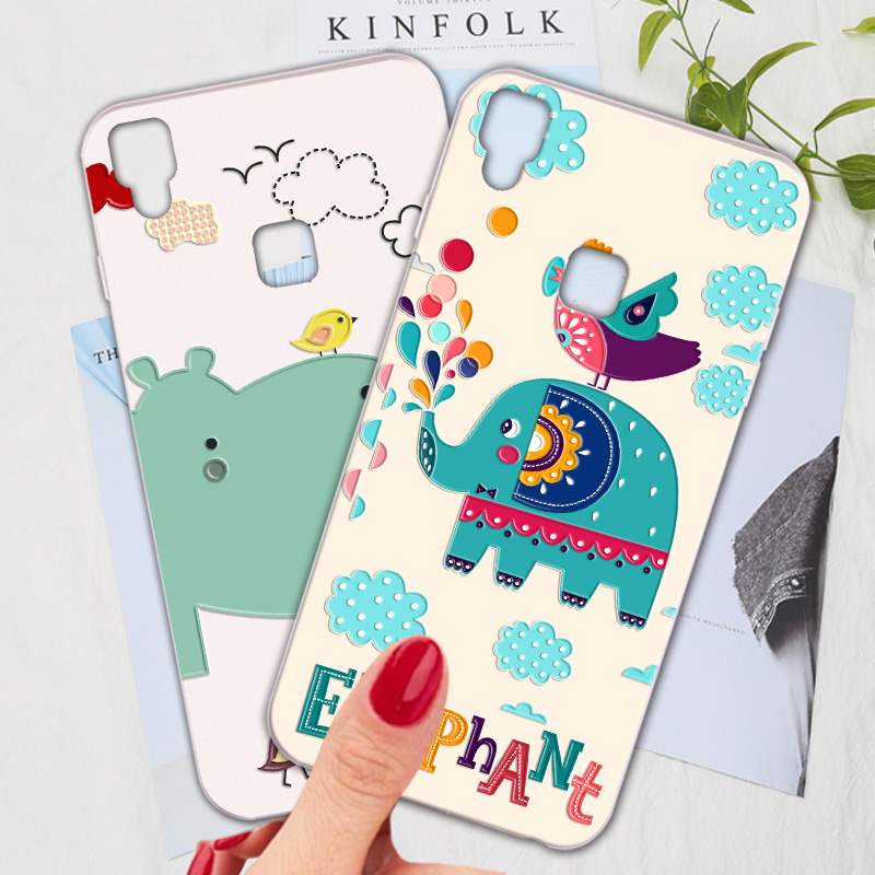 Silicone Phone <font><b>Case</b></font> For BBK <font><b>Vivo</b></font> V3 max <font><b>V3max</b></font> A <font><b>Case</b></font> Cartoon Cute Animal Fresh Phone Bag Shell For <font><b>Vivo</b></font> V3 V3L Cover image