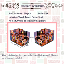 Assemble  DIY Wooden House Toy Wooden Miniatura Doll Houses Miniature Dollhouse toys With Furniture LED Lights Birthday Gift