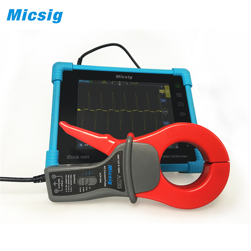 Free Shipping Micsig oscilloscope AC current probe 100KHz AC 1000A current measurement Oscilloscope Probe & Accessories ACP1000 free shipping drop kit ct 1000a droop current transformer for generator
