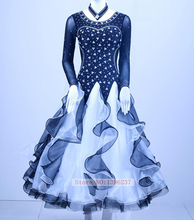 Ballroom Dress Women 100% New Royal Blue Dress For Ballroom Dancing Waltz Tango Flamenco Competition Dance Dresses