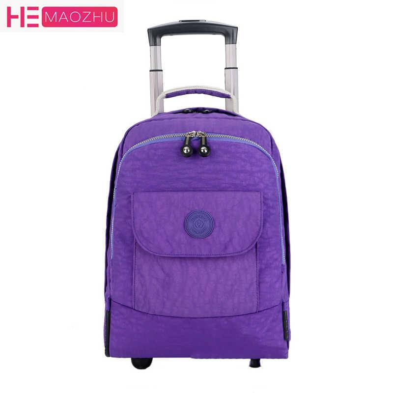 NewRolling багаж рюкзак для путешествий плечо Спиннер рюкзаки высокой емкости колеса для чемодана тележки носить на вещевой мешок