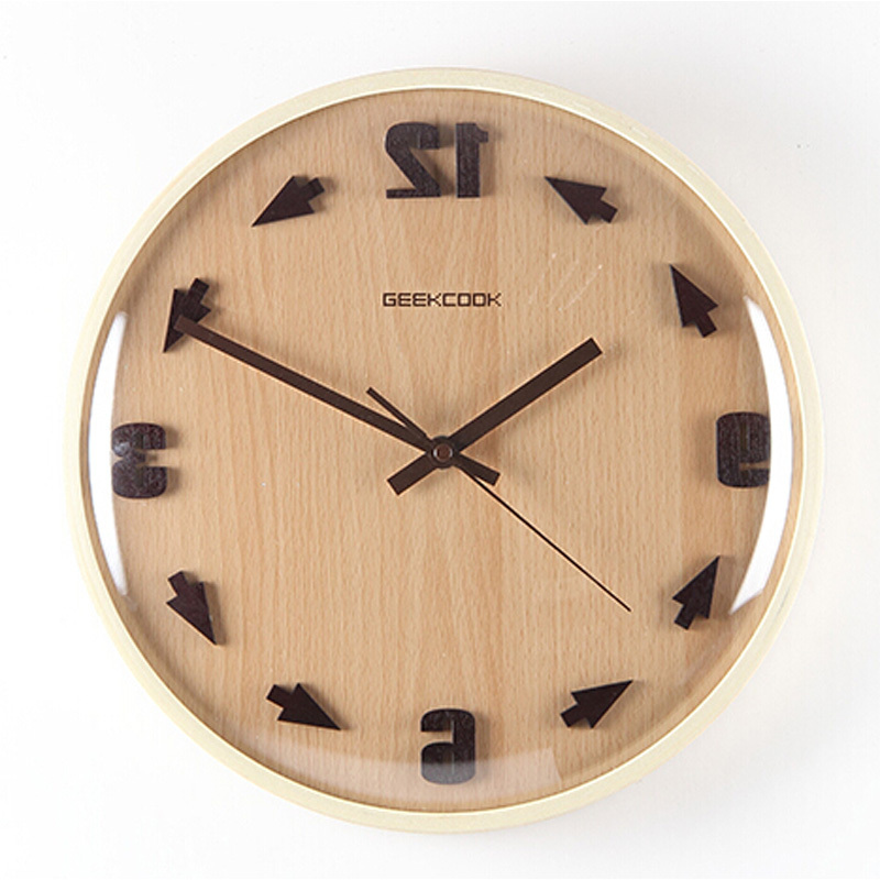 Creative Large Decorative Wall Clock Modern Design round ...