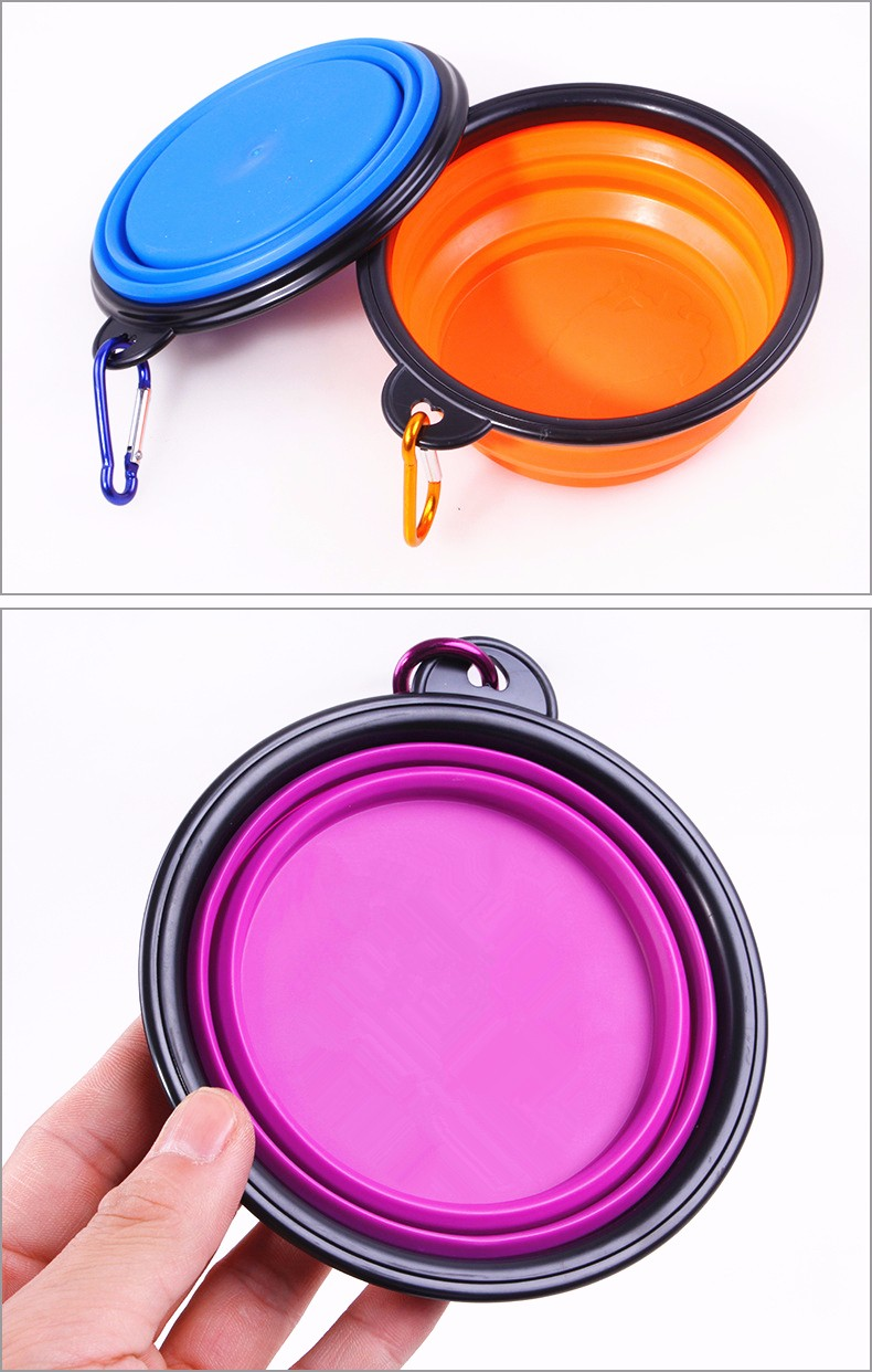 Outdoor Foldable Silicone Travel Pet Food Bowl