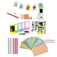 Caneta marcador + adesivos de cor + molduras para fujifilm instax mini 8 7s 9 25 50 70 90 kitty câmera instantânea SP-1 & filmes papel