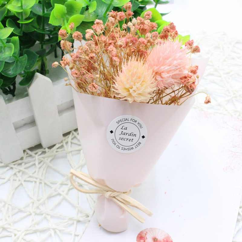 Mini One Bunch Lavender Flower Bouquet Natural Dried Flower Wedding Decor Flowers Shop Valentine's Day parure de mariage
