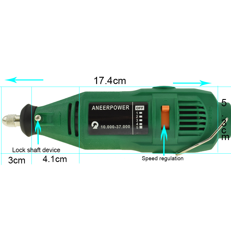 Image 4 - Electric Grinder 180w Mini Drill Dremel Style Engraving Pen Drill DIY electric Rotary Tool Grinder Power Polishing Engraving-in Grinders from Tools on