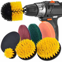 Drill Brush Scrub Pads 8 Piece Power Scrubber Cleaning Kit All Purpose Cleaner Scrubbing Cordless Drill for Cleaning Pool