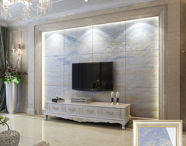 stone wall tiles for living room. 800 800mm Foshan ceramic tile floor authentic rainbow stone wall  living room non
