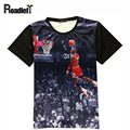 2016 summer women & men Jordan all-star 3D print t-shirt  Men's casual t shirt hip hop clothing tee tops