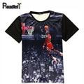 2016 verano de las mujeres y los hombres Jordan all-star impresión 3D camiseta ocasional de Los Hombres t shirt hip hop ropa tee tops