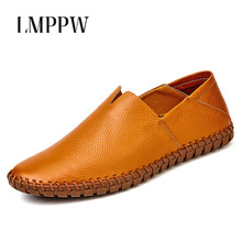 Men Shoes Comfortable Handmade Loafers Genuine Leather Fashion Design Flats Soft Moccasins Boat  2A