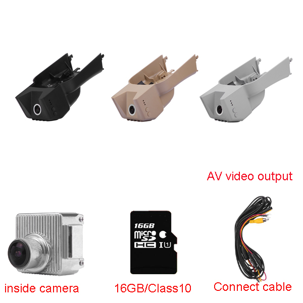 Car Dash Cam DVR Black box fit for Mercedes Benz GL/M/R/ X164/164/251 with WIFI AV cable