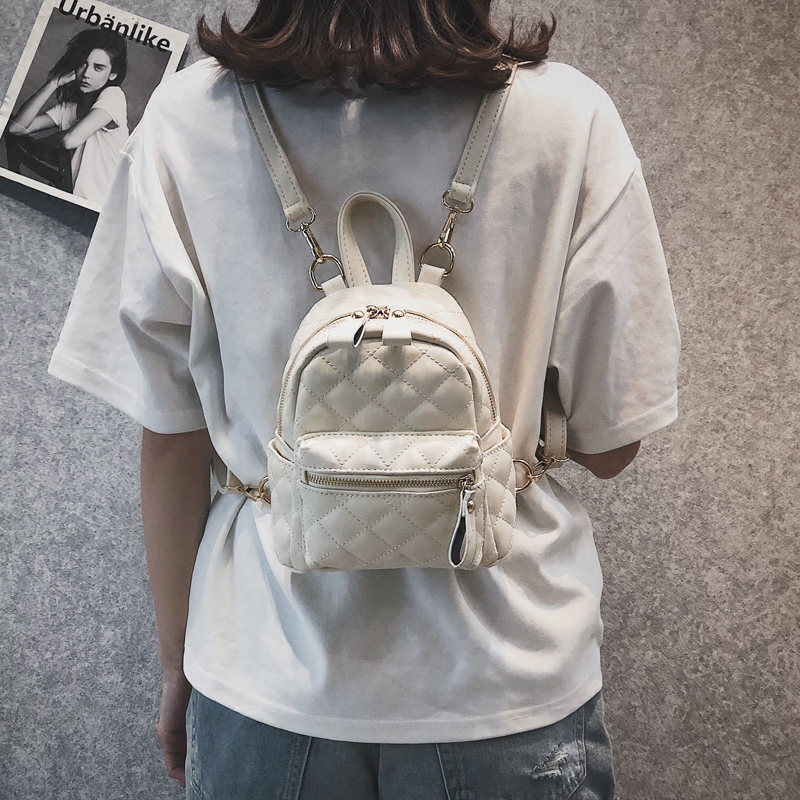 Women Backpack New Fashion Casual Pu Leather Female Feminine Backpack For Teenage Girls School Bag Solid Mini Small Backpack 982