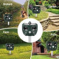 Solar Power Eco friendly Ultrasonic Pest Repeller Ultrasonic Pest Animal Bird Cat Dog Repeller Repellent Garden Tools