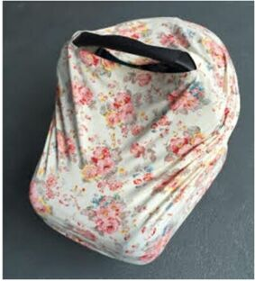 3 in 1 infant baby car seat cover rayon nursing cover floral car ...