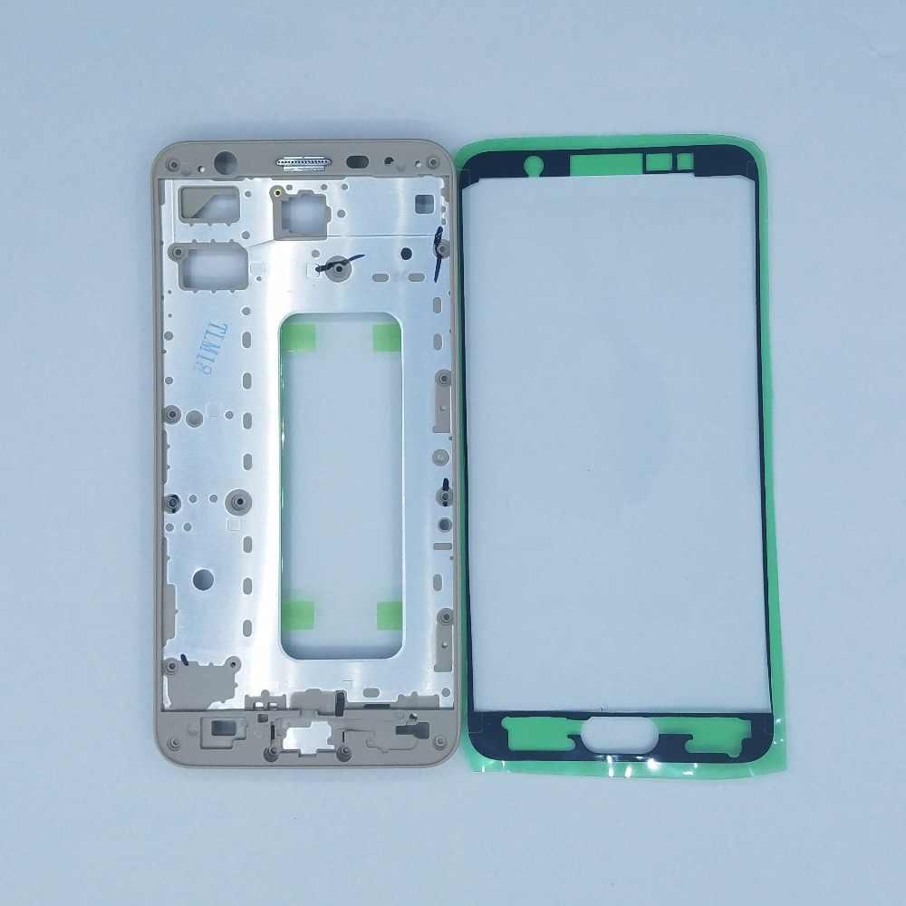 لسامسونج غالاكسي J5 Prime G570 G570F G570Y G570G جديد الهاتف LCD لوحة الإسكان الإطار الأمامي الإطار الأوسط + لاصق