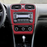 Interior Central Control Panel Carbon Fiber Protection Stickers Decals Car styling For VW Volkswagen Golf 6 MK6 GTI Accessories