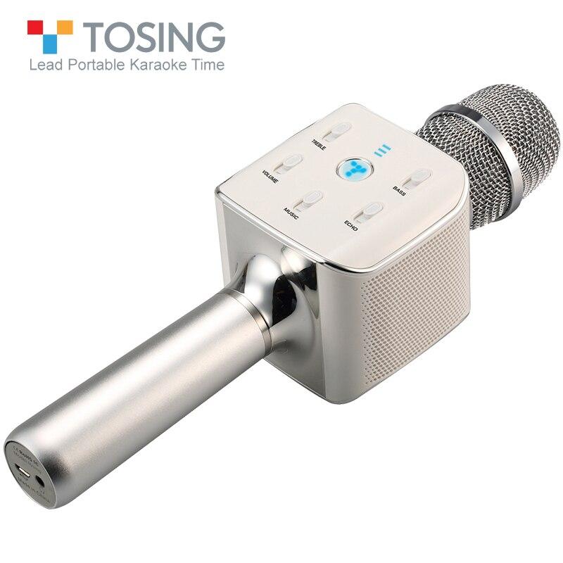 TOSING 02 Professional Kara OK микрофон семейный портативный KTV Bluetooth двойной динамик светодио дный светодиодный дыхательный свет смартфон динамик