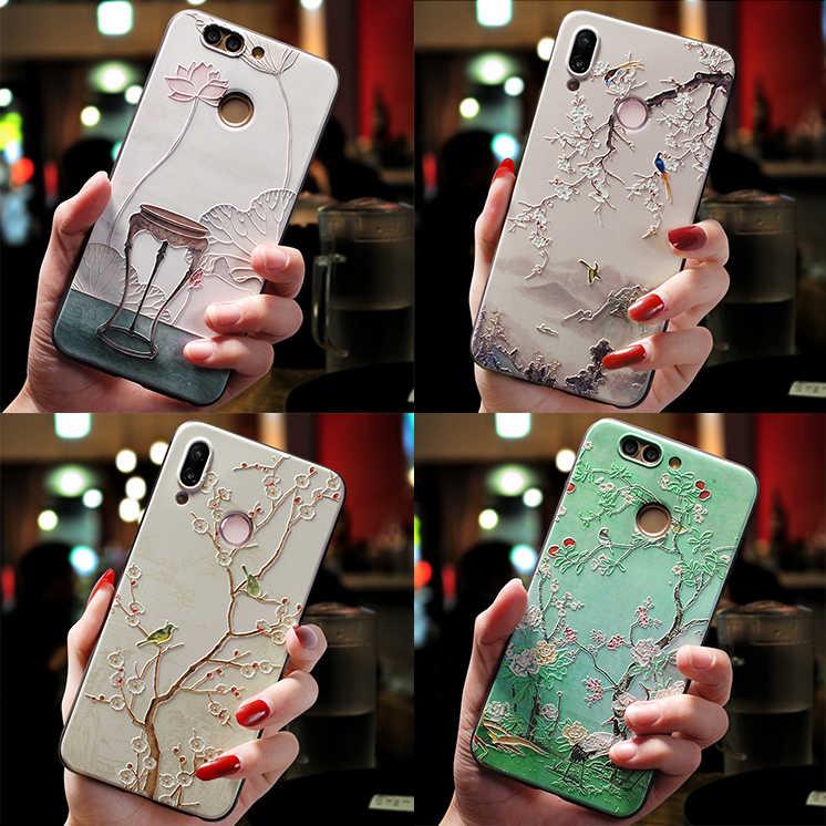 3D Emboss Relief Flor TPU Capa Para Huawei Companheiro 10 20 P30 P20 P8 P9 P10 Lite 2017 Mini Pro Para Huawei Nova 3i 2i 3 3E 4 4E Caso