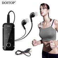 Doitop collar clip manos libres Sport MP3 música estéreo inalámbrica Bluetooth headset heahphone auriculares con llamada consejos de choque