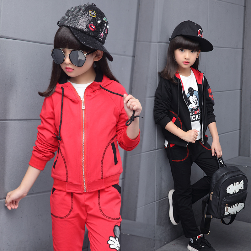 Children Clothing 2018 Spring Autumn Girls Clothes T-shirt+Pants 2pcs Kids Clothes Girls Sport Suits For Girls Clothing Se garyduck girls clothing sets kids knitted suits long sleeve houndstooth tops skirts 2pcs for girls suits