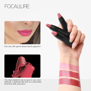 3 pcs Focallure Matte Lipstick Waterproof Long Lasting Lipsticks Tint Nude Cosmetics Lipstic Makeup Set Korean Fashion Kit Batom(China)