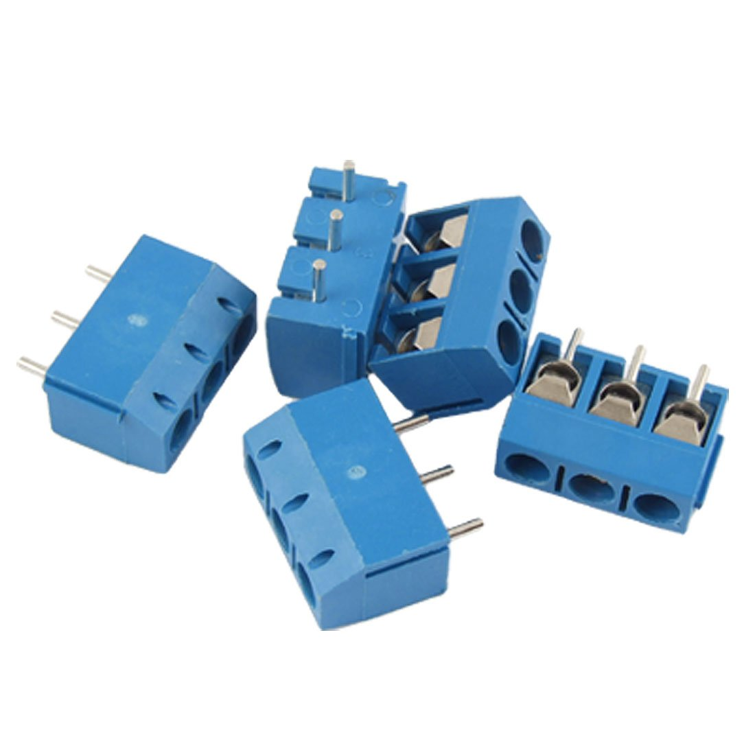 MYLB-5 Pcs 3 Position PCB Mount Terminal Block Connector 16A 5 pcs 400v 20a 7 position screw barrier terminal block bar connector replacement